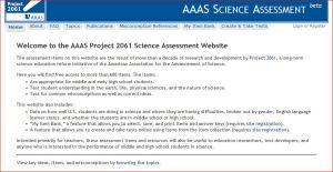 Portada de la página de la AAAS